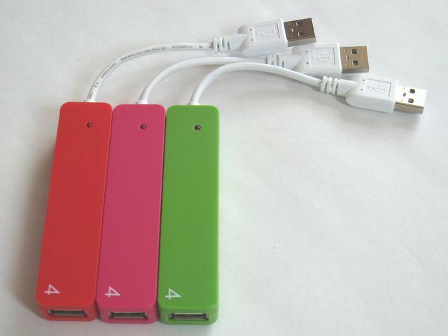 _201305_iBUFFALO USB2.0Hub バスパワー 4ポート ピンクレッドグリーン_8189