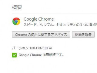Google Chrome バージョン 30.0.1599.101 m